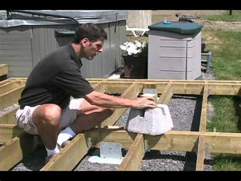 Leveling A Patio Base Solving Several Problems At Once Titan Deck Foot Youtube