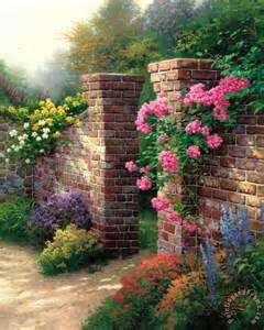 kinkade the garden painting the garden