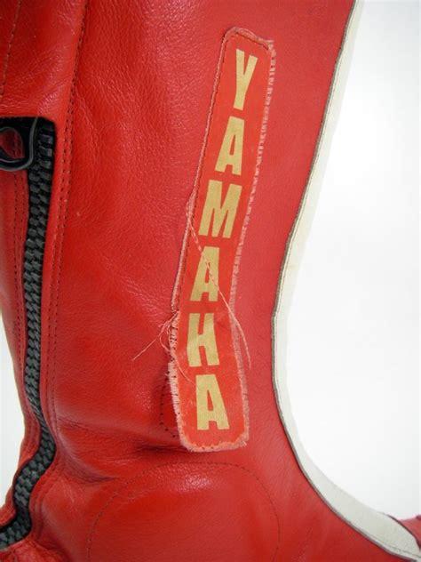 Motorradfahren Mit 80 Jahren by Yamaha Motorradstiefel 70er 80er Jahre Rot Wei 223 Oldtimer