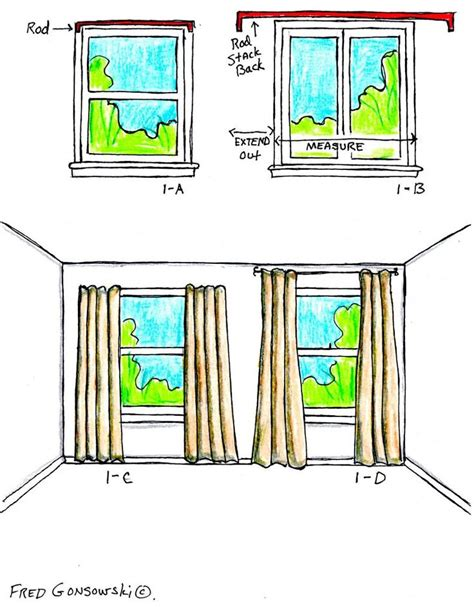 curtain hanging guide a guide to hanging curtains home pinterest