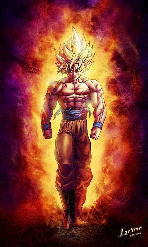 dragon ball super saiyan android live wallpaper apk free son goku live wallpaper 3d apk download for android