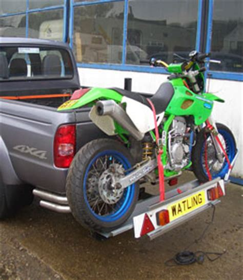 motocross bike rack towbar motorbike carrier motorbike rack from watling
