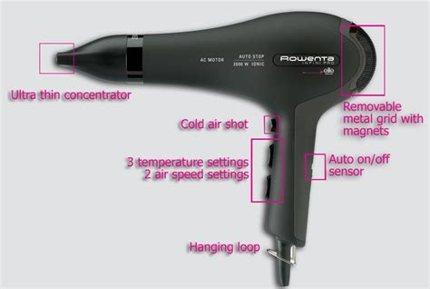 Hair Dryer Rowenta rowenta for elite infini pro sensor hairdryer 2000w cv8525