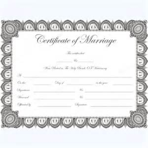 marriage license template marriage certificate templates 500 printable designs