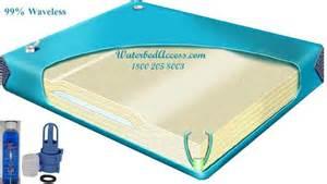 size ninety percent waveless waterbed mattress