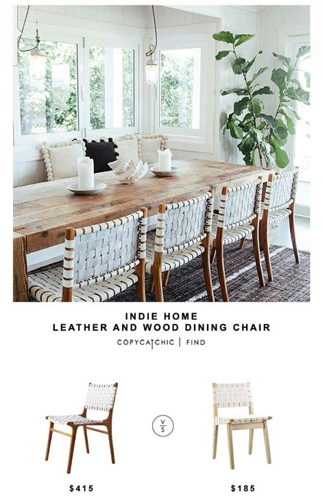 Weave Dining Chairs Home Wood And Leather Dining Chair Copycatchic