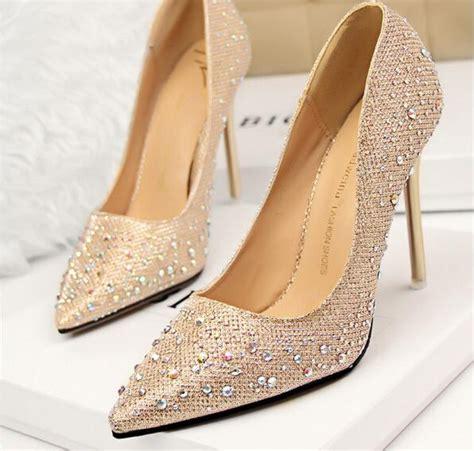 Comfortable Wedge Bridal Shoes 2015 Rhinestone Wedding Shoes Bridesmaid Shoes Bridal Pink