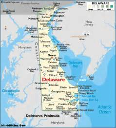 us map of delaware map of delaware large color map