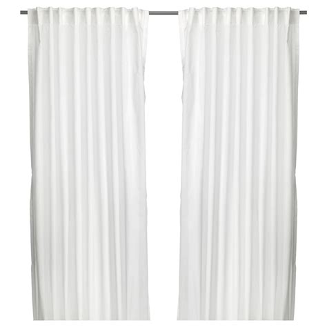 Ikea White Curtains Vivan Curtains 1 Pair White 145x250 Cm Ikea