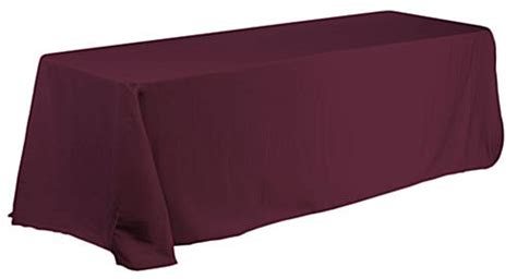 132 inch tablecloth fits what size table linen table cover with corners for 6 ft table burgundy