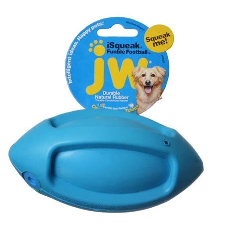jw pet jw pet isqueak funble football rubber dog toy toys