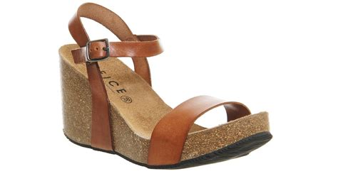 Wafa Cork Sandal From Office by Lyst Office Whistler Cork Wedges In Brown