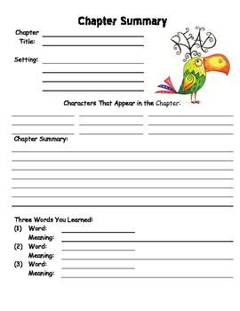 Chapter Summary Worksheet Template Book Reports Pinterest Chapter Summary Summary And School Brief Template