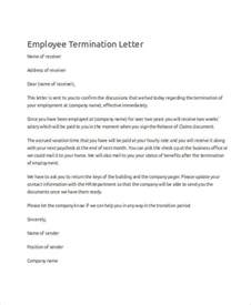 termination letter format download sample termination letter for the workplace termination of services letter 9 free word pdf