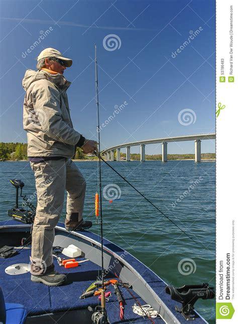 big boat dream man pike fishing stock image image of fish blue fisherman