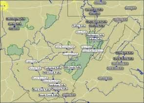 map of wv waterfalls west virginia the best virginia