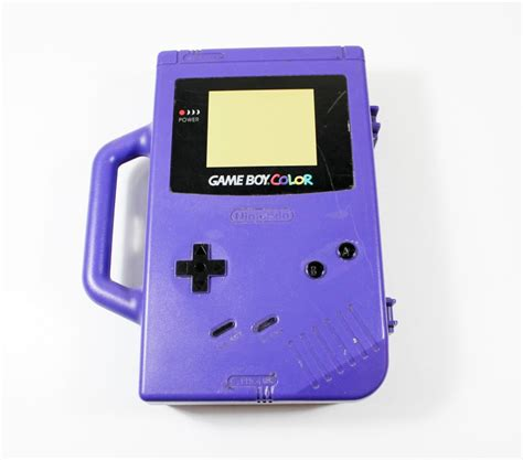 Plastik Pouch Gba Gameboy Advance nintendo boy color vintage travel carrying purple gbc70