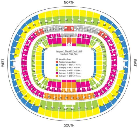 tottenham wembley seating plan away fans wembley stadium profile