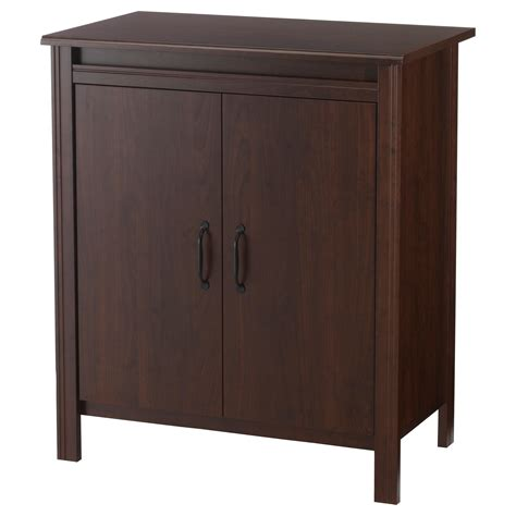 brusali cabinet with doors brown 80x93 cm ikea