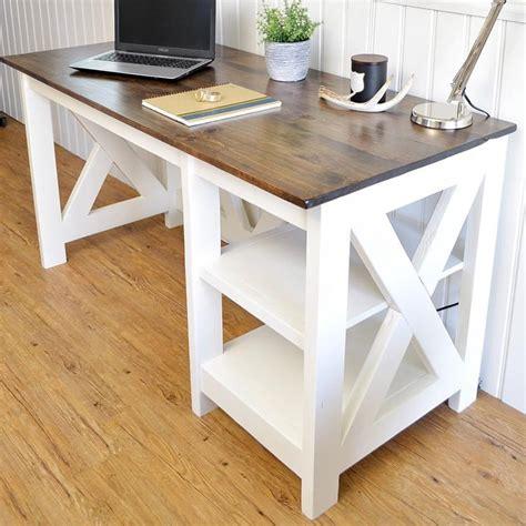 Ana White Farmhouse X Desk Diy Projects White X Desk