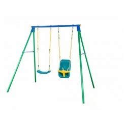 double swing with baby seat football coach mi portal cms