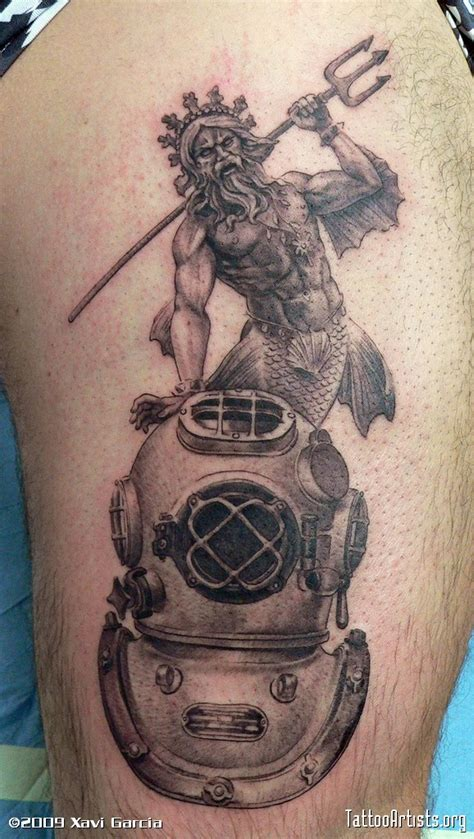 diving helmet tattoo designs cool scuba tattoos on octopus tattoos