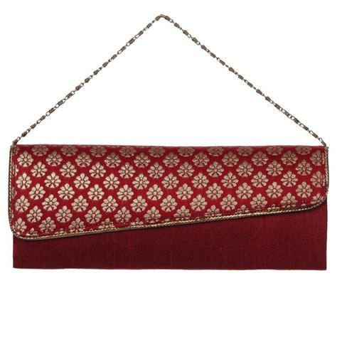 Handmade Clutch Purse - handmade womens maroon stylish clutch purse evening bag