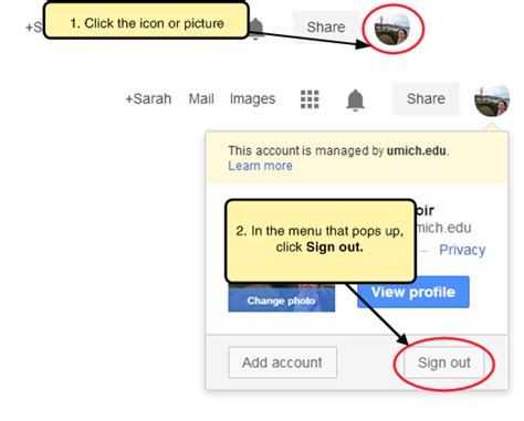 how to sign out of gmail on android image gallery logout site