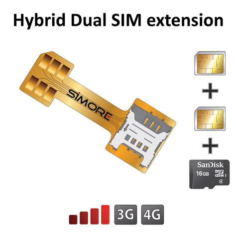x extender sim card extension adapter for hybrid dual sim