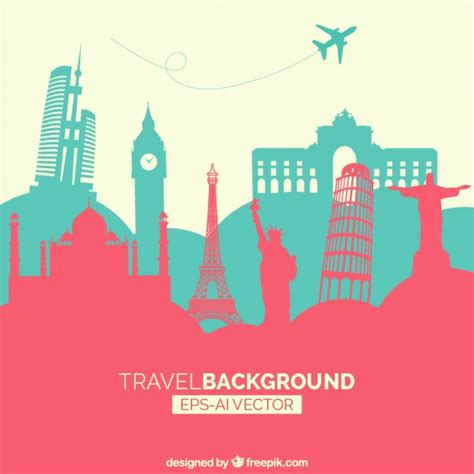 What Countries Can You Travel To With A Criminal Record Travel Background With Monuments Vector Free
