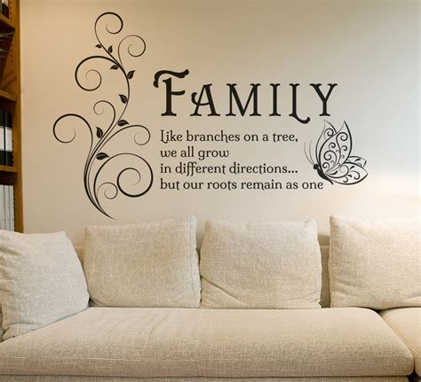 Wall Murals Quotes family tree butterfly wall art sticker wall decals quotes