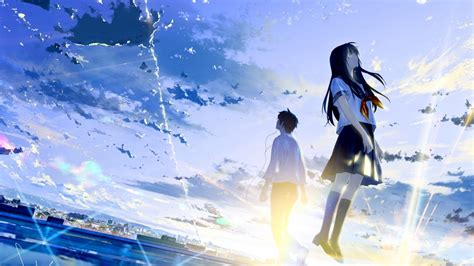 couple crying hd wallpaper download 1366x768 anime couple crying tears sky scenic