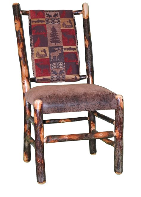 Wheelchair For Cabin Seat by Rustic Hickory Upholstered Seat And Back Dining Chair