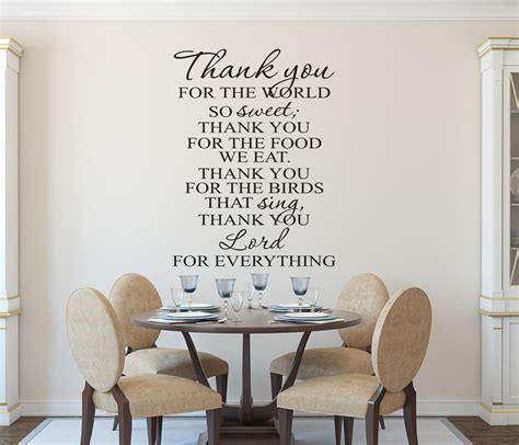 christian wall kitchen prayer wall decal wall