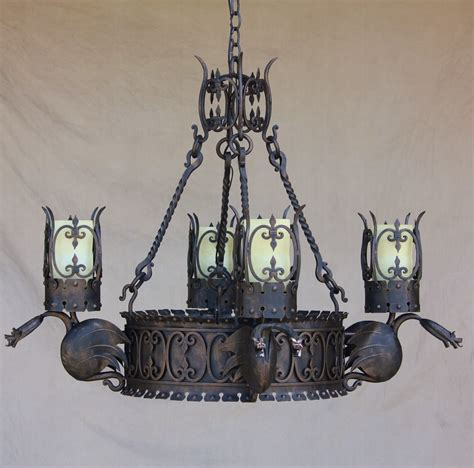 Spanish Wrought Iron Chandeliers Lights Of Tuscany 1710 4 Gothic Medieval Browse By Style