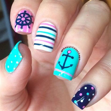 over 50 nail styles 50 cool anchor nail art designs noted list