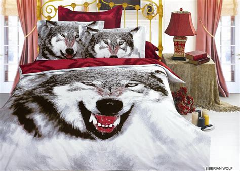 wolf comforter set 3d snow wolf print bedding comforter set sets queen size