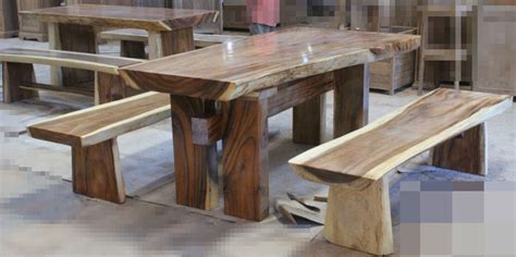 wooden bench and table set wood dining table