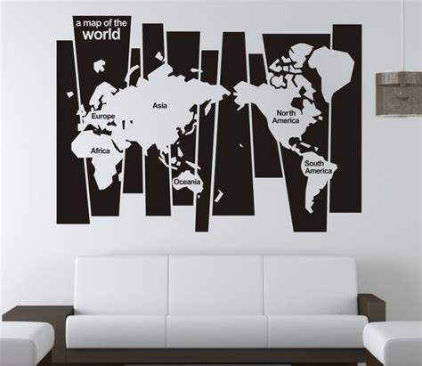 free shipping quot world map quot quote saying vinyl
