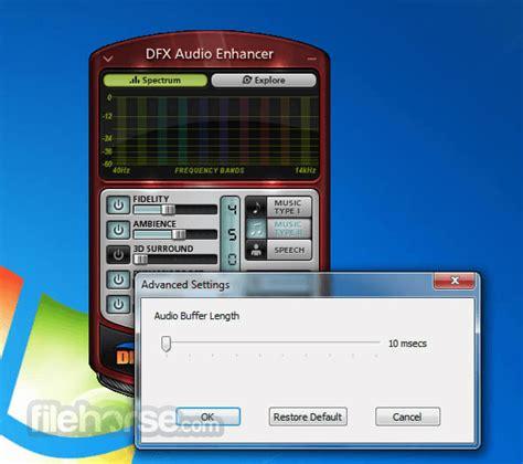 dfx audio enhancer    windows filehorsecom