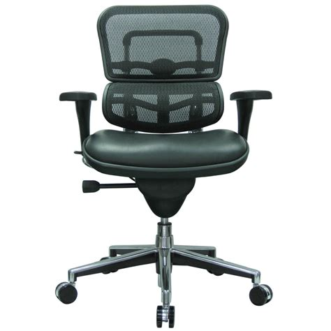 Modern Ergohuman Leather Leather Seat Swivel Chair With Mesh Swivel Chair