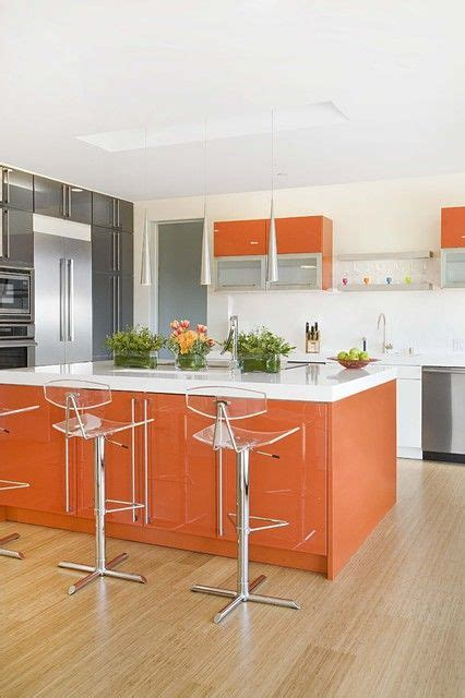 orange kitchen cabinets 27 cheerful orange kitchen decor ideas digsdigs