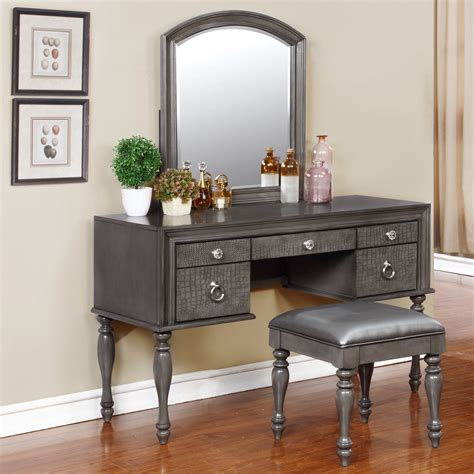 Wayfair Bedroom Vanity Sets by Avalon Furniture Glam Style Vanity Set With Mirror