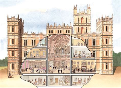 Floor Plan Downton Abbey by From A Series Of Illustrations For Highclere Castle Downton Abbey Location