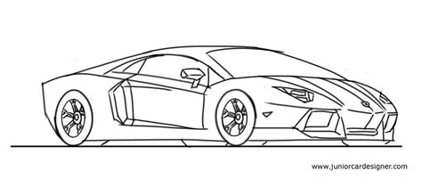 lamborghini sketch easy how to draw a lamborghini aventador step by step junior