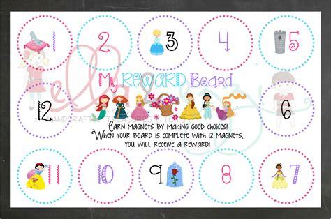 printable reward charts disney reward chart printable disney princess reward board instant