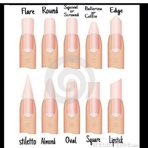 8 Nail Shapes And How To Choose The One For You by Nail Shapes Makeup Nails Et Al