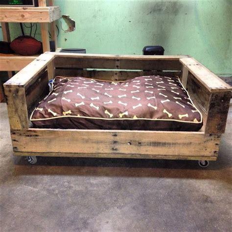 pallet dog bed plans diy rustic pallet dog bed pallet furniture plans