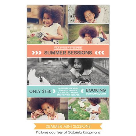 instant download photography marketing board psd
