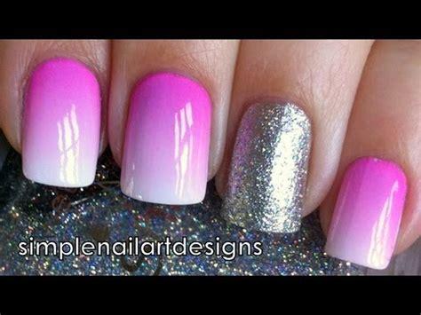 nail art acrylic paint tutorial pastel ombre soak off nails jak zrobic ombre na